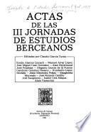 Actas de las III Jornadas de Estudios Berceanos