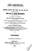 Año cristiano o Exercicios devotos para todos los dias del año: Diciembre (601 p.)