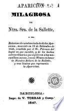Aparición milagrosa de Ntra. Sra. de la Sallette