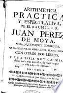 Arithmetica practica y especulativa