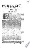 Begin. Por la ciudad de Salamanca. [A petition to the King of Spain, Philip IV.? relating to the depressed state of the paper trade of Salamanca.]