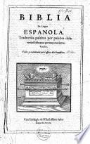 Biblia en lengua espanola
