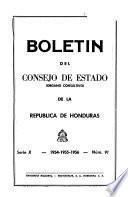 Boletín del Consejo de Estado (organo consultivo) de la República de Honduras