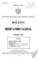 Boletín del Observatorio nacional