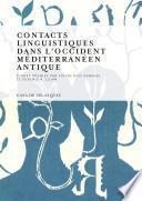 Contacts linguistiques dans l'Occident méditerranéen antique