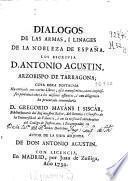 Dialogos de las armas, i linages de la nobleza de España