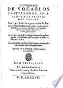 Dictionario de vocablos castellanos