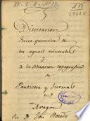 Disertacion fisico-quimica de las aguas minerales y de la situacion topografica de Panticosa y Tiermas en Aragon