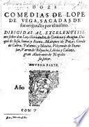Doze comedias de Lope de Vega, sacadas de sus originales por el mismo ... novena parte