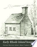 Early Rhode Island Houses