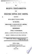 El Nuevo Testamento de Nuestro Sen̄or Jesu Cristo