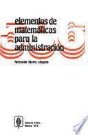 Elementos de matemáticas para la administración