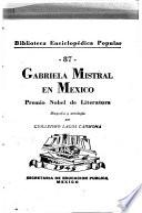 Gabriela Mistral en México