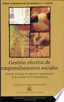 Gestión Efectiva de Emprendimientos Sociales