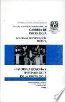 Historia, Filosofía y Epistemología de la Psicología