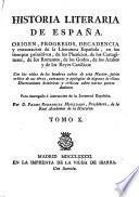 Historia literaria de España desde su primera población hasta nuestros días