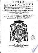 Index et catalogus librorum prohibitorum
