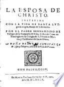 La esposa de Christo instruida con la vida de Santa Lutgarda virgen, Monja de S. Bernardo