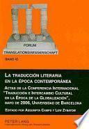 La Traducción Literaria en la Época Contemporánea