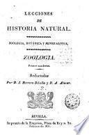 Lecciones de historia natural ... zoologia ...