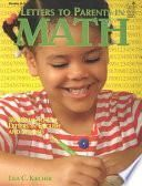 Letters to Parents in Math Grades K-3