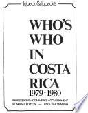 Lubeck & Lubeck's who's who in Costa Rica, 1979-1980