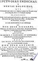 Luctuosas endechas, y nenias doloridas ... a las benemeritas cenizas de D. Juan Richardi recogidas, etc