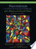 Matemáticas: un enfoque de resolución de problemas para maestros de educación básica