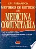 Métodos de estudio en medicina comunitaria