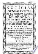 Noticias genealógicas de la antigua familia de Aranda, de la que justifica su descendencia D. Joaquín de Aranda y Amézaga ...