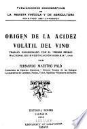 Origen de la acidez volátil del vino