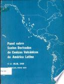 Panel Sobre Suelos Derivados de Cenizas Volcanicas de America Latina