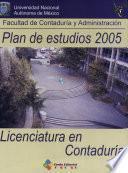 Plan de Estudios 2005. Licenciatura en Contaduria