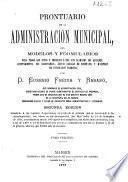 Prontuario de la administración municipal