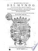 Repvblicas Del Mvndo Divididas En, XXVII. Libros