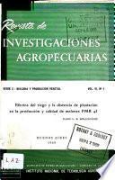 Revista de investigaciones agropecuarias