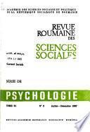 Revue roumaine des sciences sociales