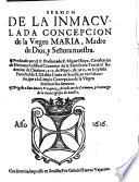 Sermon de la Inmaculada Concepcion de la Virgen Maria ...