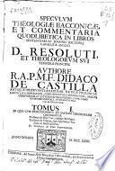 Speculum theologiae Bacconicae et commentaria quodlibetica in libros sententiarum Joannis Bacconij carmelitae anglici ...