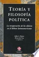 Teoría y filosofía política