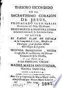 Thesoro escondido en el Sacratissimo Corazon de Jesus